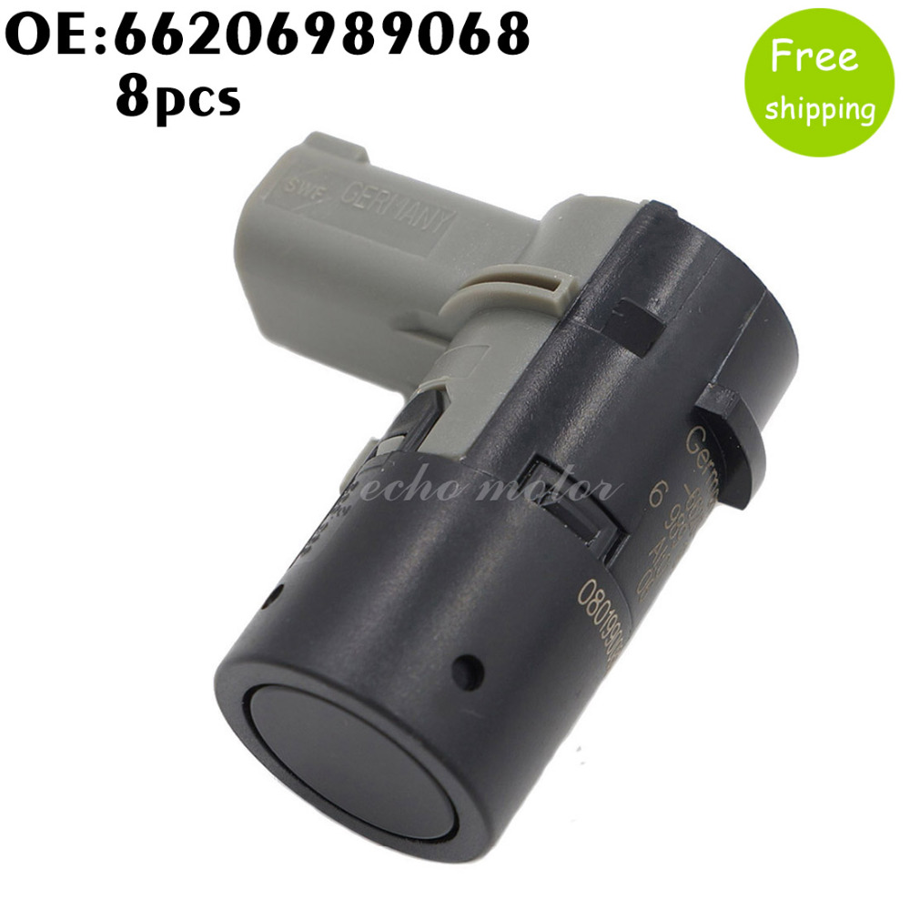 8pcs Front Rear Parking Sensor Pdc 66206989068 989068 For