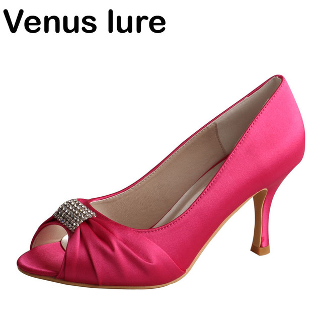 427731643688 Hot Pink Shoes Women Heels Peep Toe for Wedding Party Stiletto Heel Pumps