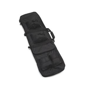 """Image 3 - 100cm 40 """"zoll Doppel Taschen SWAT Dual Taktische großen kapazität Tragetasche taschen für Gewehr Airsoft AEG Gun armee grün Schwarz"""