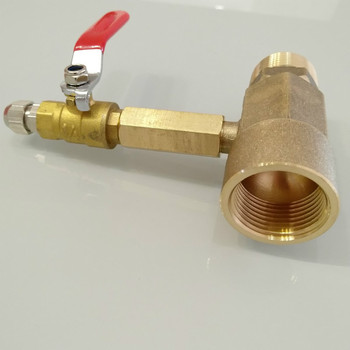 """Brass copper ball valves with 1/4"""" check value one-way value proportional foam liquid mixer for fire extinguish box accessories"""