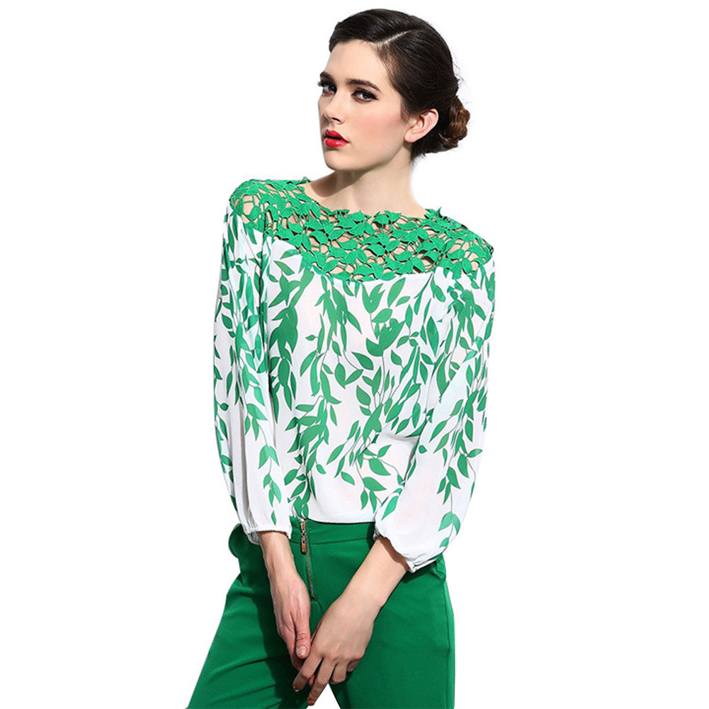 Plus Size Women\'s Shirt 2017 Fashion Silk Blouse Women With Crochet ...