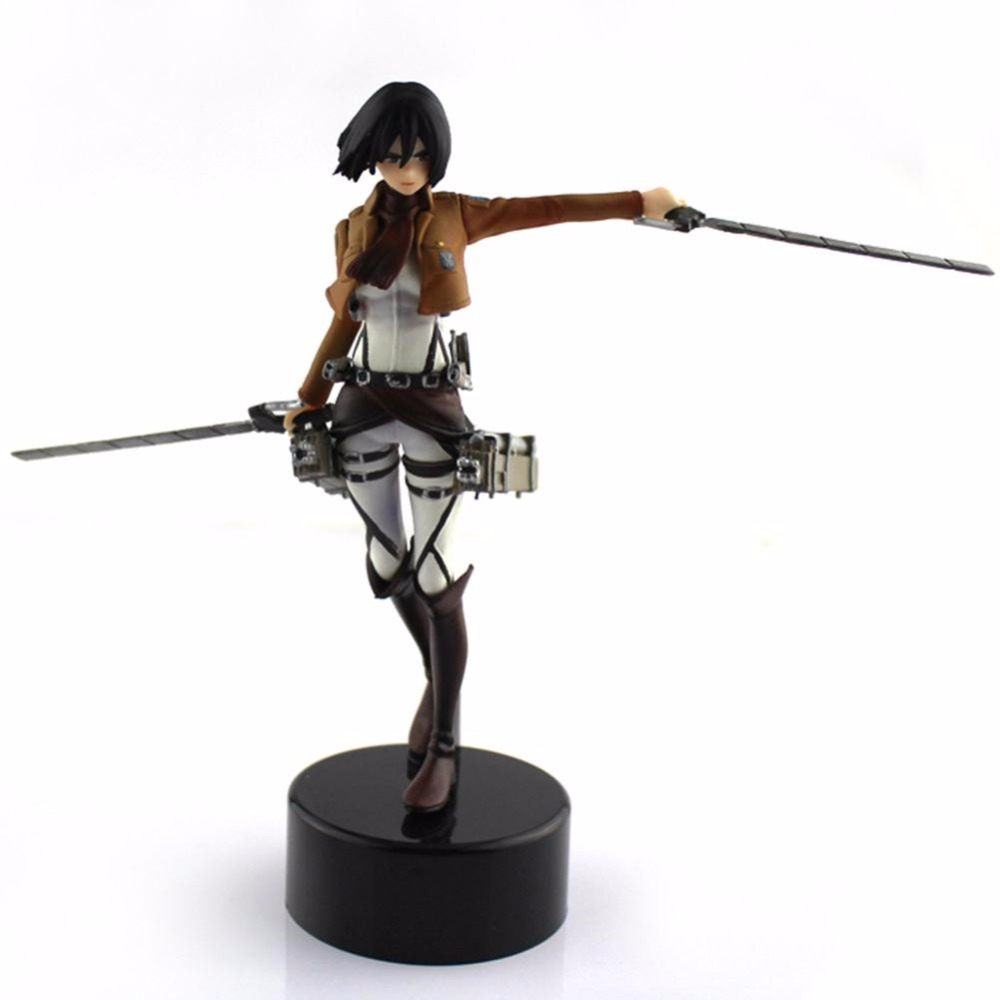 Trendy Japaness Shingeki No Kyojin Mikasa PVC Figure Figurine Attack On Titan Brand New Action Figure диванная подушка shingeki kyojin 40 x 60 e4780