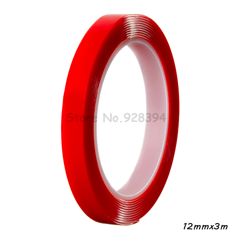 1 Piece 12mm 3m Strong Super Double Sided Clear Tape Heat