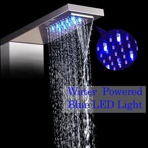 Image 2 - Paslanmaz çelik LED ışık duş paneli musluk duvara monte SPA masaj sistemi duş başlığı seti sistemi dijital sıcaklık ekran
