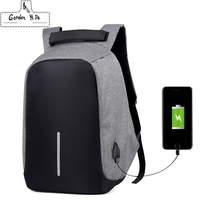 Anti Theft 14 15 6 Inch Laptop Backpack 2018 Men S Oxford External USB Charge Notebook