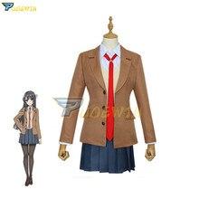 Seishun Buta Yarou wa Sakurajima Mai School Uniform Dress Outfit Anime Cosplay Costumes