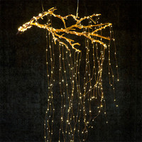 200 LEDs Vines Branch Tree Lights String 10 Strands Copper Silver Wire Fairy String Lights for Holiday Party Wedding Decoration