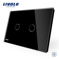 Livolo Touch Switch VL C902D 12 Crystal Glass Panel US AU Standard Dimmer Control Touch Wall