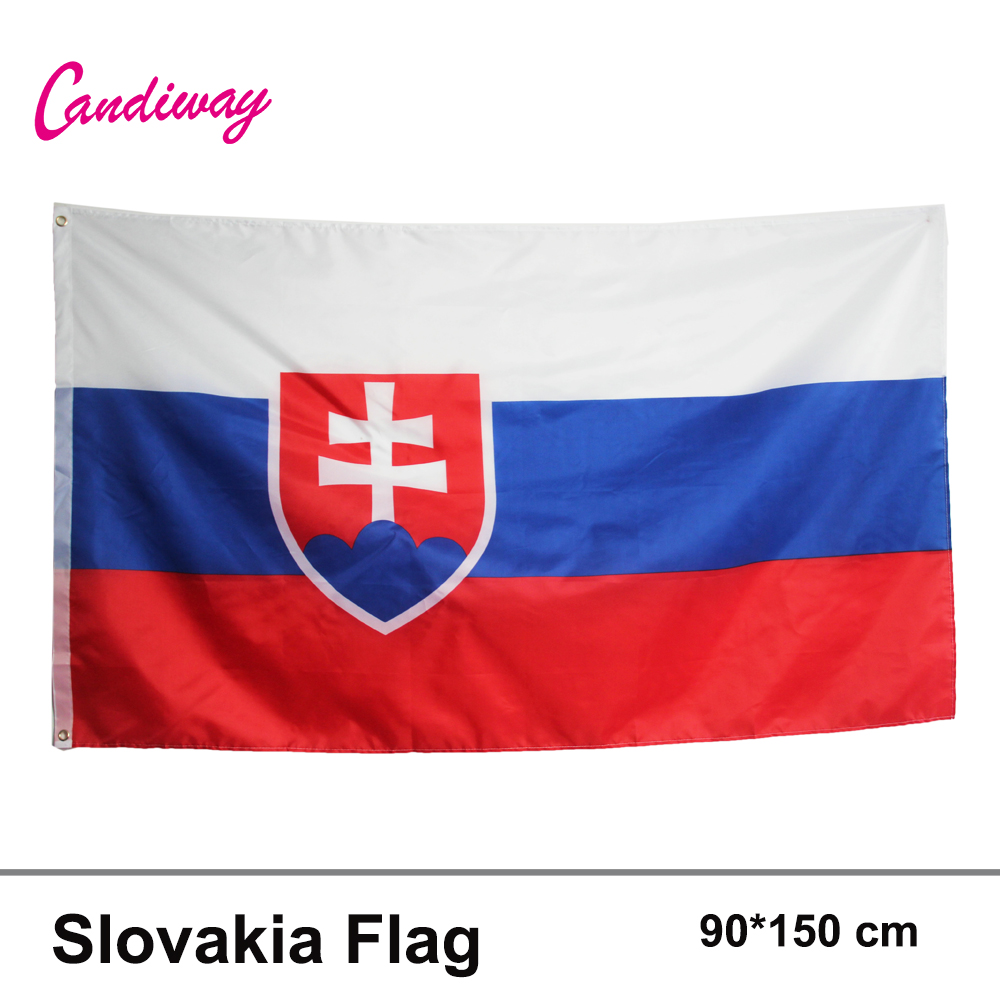 Slovakia FLAG slovak Banner EU 3*5FT/<font><b>90</b></font>*150cm Hanging Office/Activity/parade/Festival/Home Decoration <font><b>2016</b></font> New fashion image