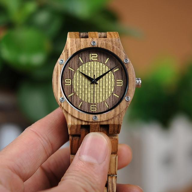 Watch: Zebra Wood Unisex Quartz Timepiece in Wooden Gift Box
