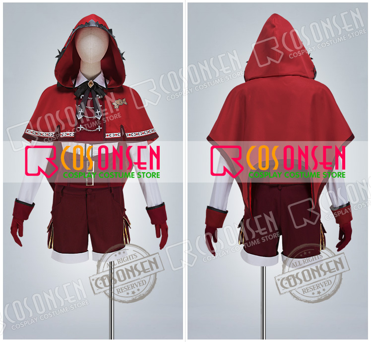 Ensemble Stars Rabits Nito Nazuna Forest's Red Riding Hood Cosplay Costume COSPLAYONSEN full set