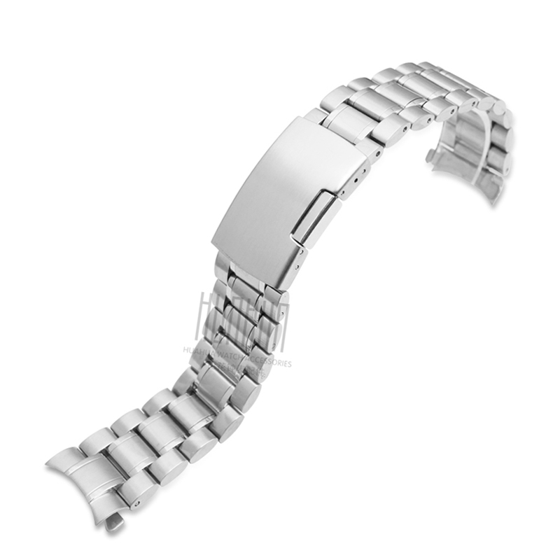 Men's Solid Stainless Steel Strap for Casio MTP-1374 /1375 /5001 EFE-507  22mm Women's Silver Waterproof Sports Strap