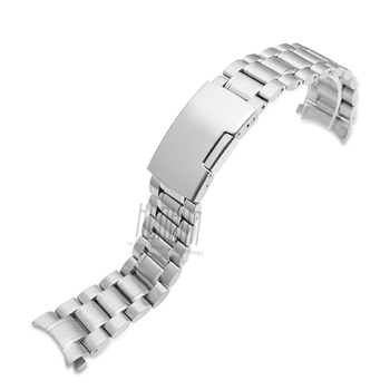 Men's Solid Stainless Steel Strap for Casio MTP-1374 1375 5001 EFE-507  22mm Women's Silver Waterproof Sports Strap