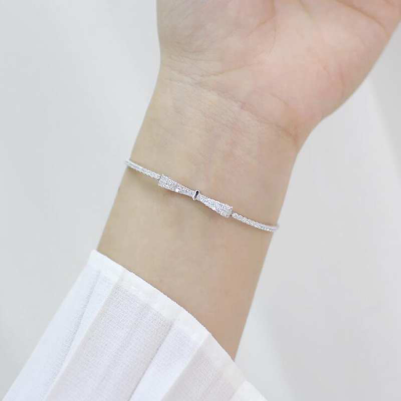 HTB1GhZrk8nTBKNjSZPfq6zf1XXao Ruifan Fashion Box Chain Bowknot 100% 925 Sterling Silver Bracelet Ladies Cubic Zircon Bracelets Female Women's Jewelry YBR057
