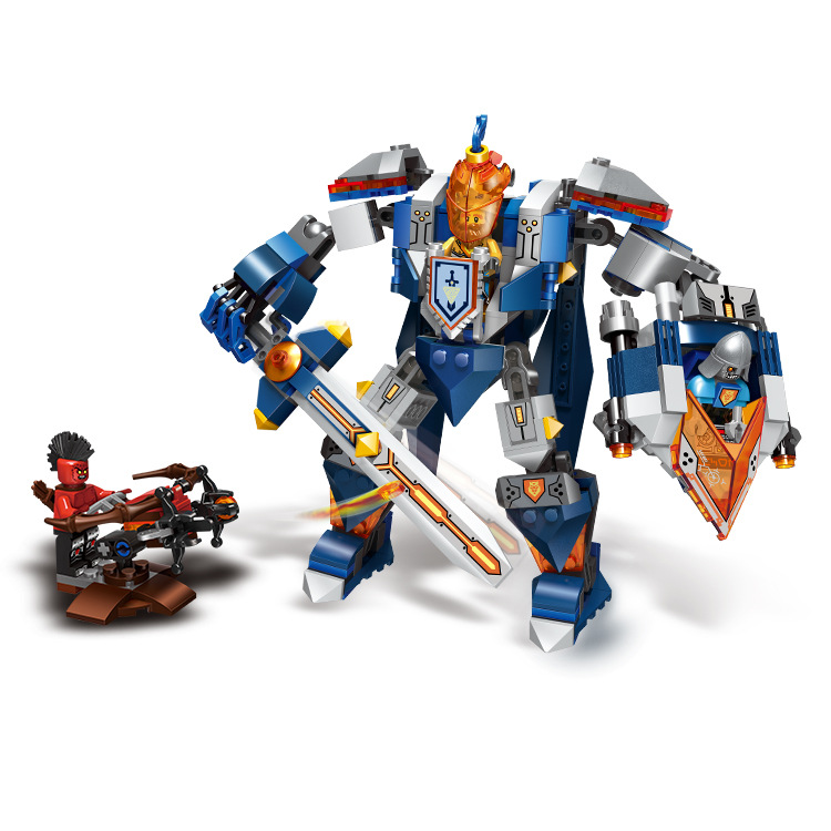 LP GO Nexo Knights The King's Mech Mobile Combination Marvel Building Blocks Toys Minifigures Compatible Nexus