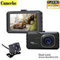 2016 New Novatek 2 lens Car DVR Dual Camera 1080P Full HD Video Recorder With Rear View Cameras Camcorder WDR BlackBox Dashcam