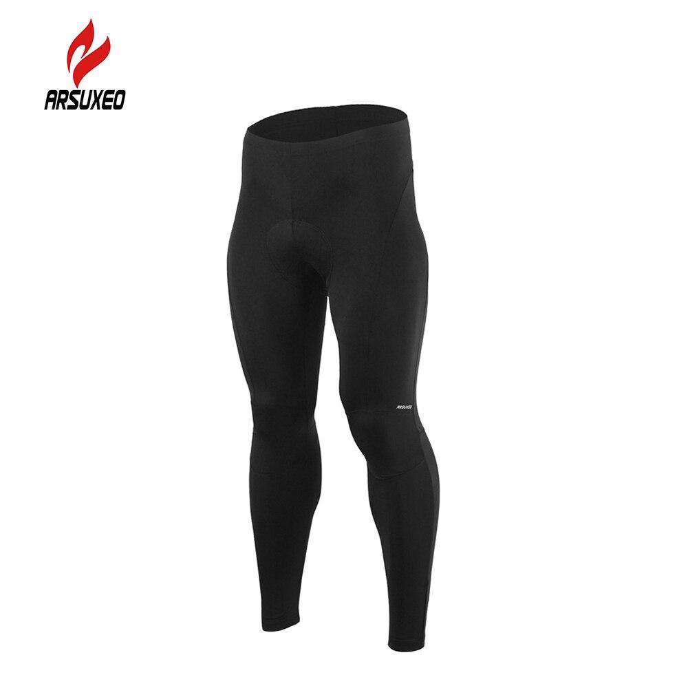 Arsuxeo esponja acolchado ciclismo pantalones largos ropa ciclismo de  bicicletas bike pantalones cosechados correr gimnasio comp. 2d52bf61d71a