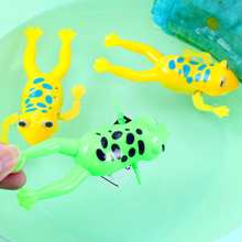 Hot Sale Moving Swimming Frogs Relax Clockwork Frog Toy Baby Bath Toy Wind Up Toy For Kids Children Gift(China)
