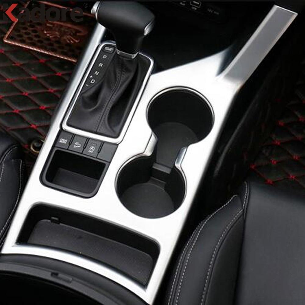 For Kia Sportage 2016 2017 Fourth GE Matte Gear Box Shift Knob Control Panel Cover Trim