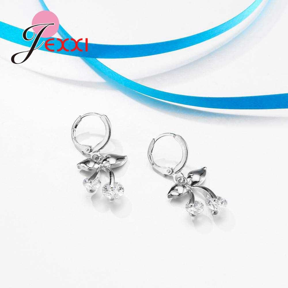 דובאי תכשיטי סטי שרשרת ועגילים 925 סטרלינג תכשיטי כסף סט תכשיטים מלאכותיים חתונה קישוטי Bijoux Colier Mariage