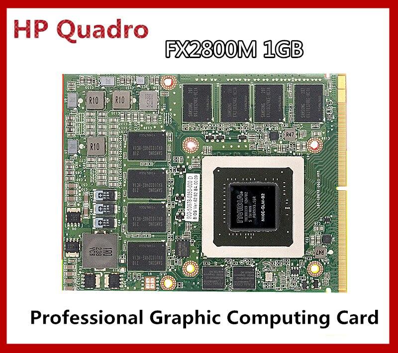 HP 596062-001 505986-001 NVIDIA Quadro FX 2800M 1GB GDDR3 Video Card