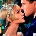 Venta caliente Gran Gatsby Corona Pedrería y Perlas de Plata Barato de La Vendimia Accesorios de La Boda