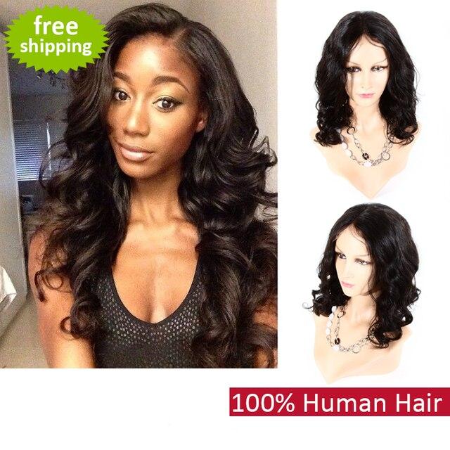 2015 cheap african american wigs human full lace wig natural black  brazilian virgin hair lace front human brazilian hair wigs 484cf2d52