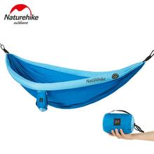 NatureHike 2 People Outdoor Camping Hammock Tent Travel Large Parachute Hammock Mosquito Net Swing Sleeping Bed Hamaca Hamac цена
