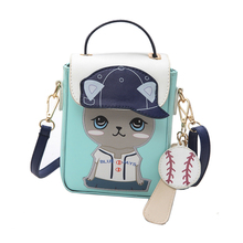 SJ bolsos de hombro de mujer bolso de mensajero de mujer Braccialini estilo de marca Artesanía diseño de dibujos animados de moda encantador sombrero de sol gato