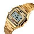 Skmei relojes mujeres reloj impermeable señoras reloj automático datejust wz de calidad superior de la marca de lujo de oro rosa de las mujeres 1123