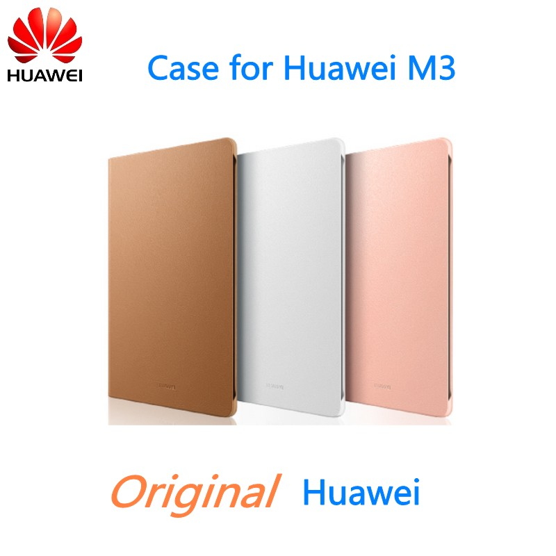 quality design 2c204 efb5a US $17.99 |Original Flip Cover Case for Huawei Mediapad M3 Case With Sleep  / Wake Function Full Protect Tablet Case-in Tablets & e-Books Case from ...