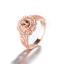 Everoyal Charm Rose Gold Flower Rings For Women Accessories Female Vintage 925 Sterling Silver Girls Jewelry Fashion