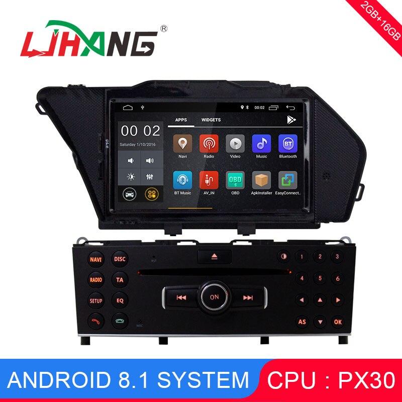 LJHANG 1 DIN Android 8.1 Car Multimedia Player For BENZ GLK/GLK X204/GLK 300/GLK 350 GPS Car DVD Radio Audio headunit WIFI RDS