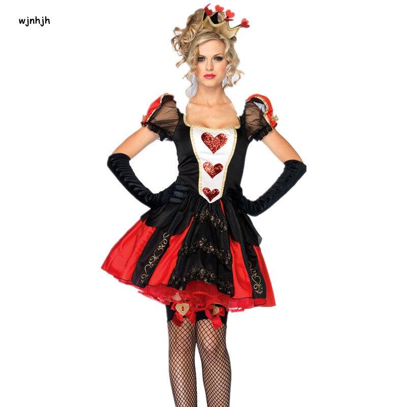 2017 New Alice In Wonderland Cosplay Costume Queen Of ...