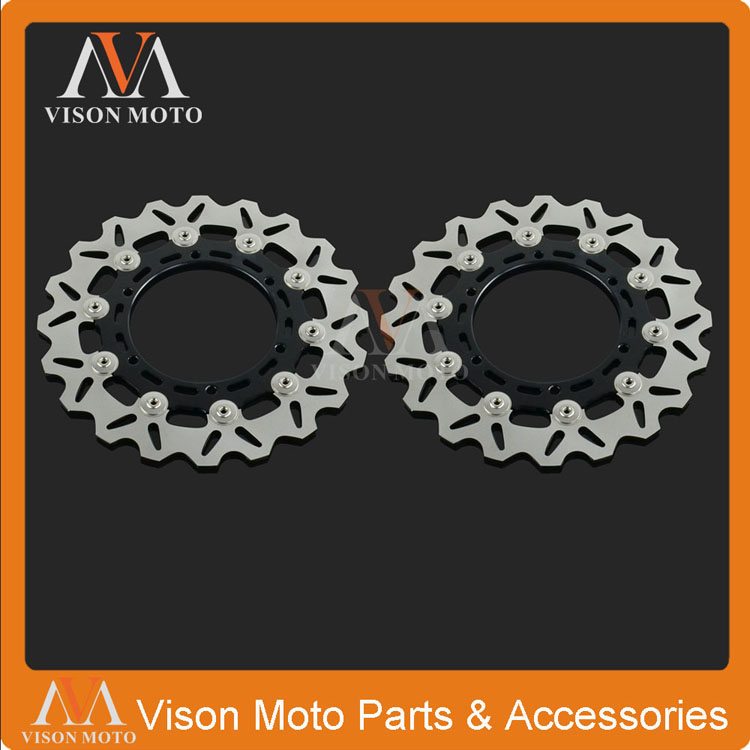 2PCS Front Floating Brake Disc For Yamaha XJ600 98-03 XTZ660 08-13 TDM900 02-14 YZF600 96-07 YZF1000 96-98 YZF R1 98-03 R6 99-02 rear brake disc rotor for yamaha fz400 srx400 xjr400 fz600 fzr600 fzs600 srx600 xj600 yzf600 yzf750r tdm850 tdm900 yzf1000