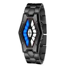 Moda Reloj Digital LED Relojes de Lujo Hombres Mujeres Serpiente de La Cobra del Hierro Creativo Relojes de Pulsera Relogios Feminino