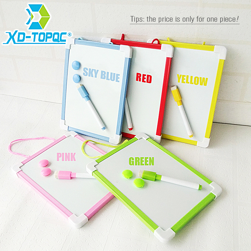20.5*15.6cm Magnetic Kids Whiteboard Dry Wipe Board 5 Colors Frame Mini Drawing White board Small Hanging Erase Boards With Pen dry wipe magnetic 20 30cm whiteboard imitation aluminium plastic frame double sided white memo board wood easel free gift pw01