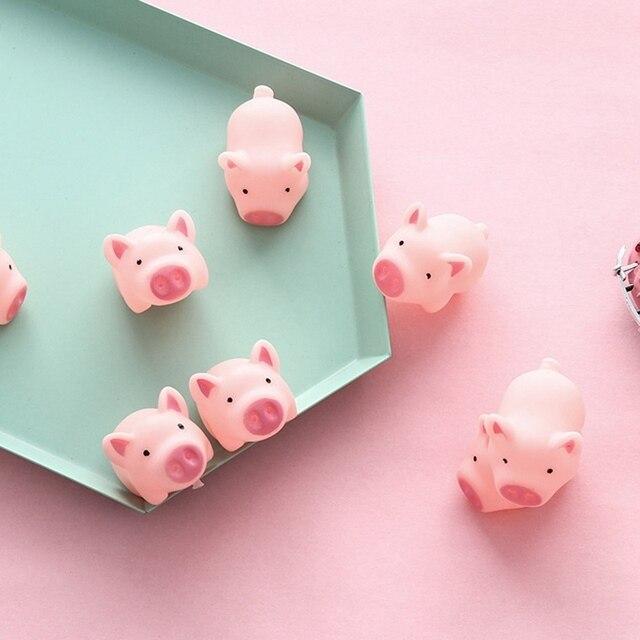 Bonito Vocal Desabafar Brinquedo Porco de Estimação Criança Rosa New Gritando Porco de Estimação Brinquedos Squeak Squeaker Chew Casa Decorações de Presente Bonito brinquedos porco