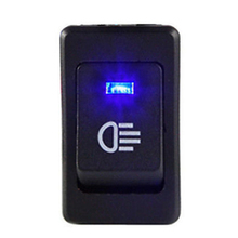 1PCS 12V 35A Car Fog Light Rocker Switch 4Pins Blue LED Dash Dashboard