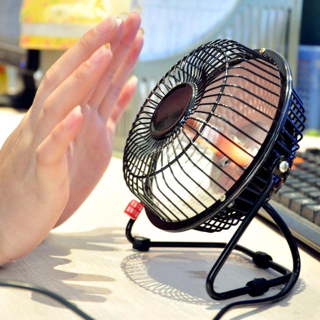 Fedex Free Shipping Mini Small Electric Heater Winter Office Desktop Warm Fan Energy Saving Fever Heating