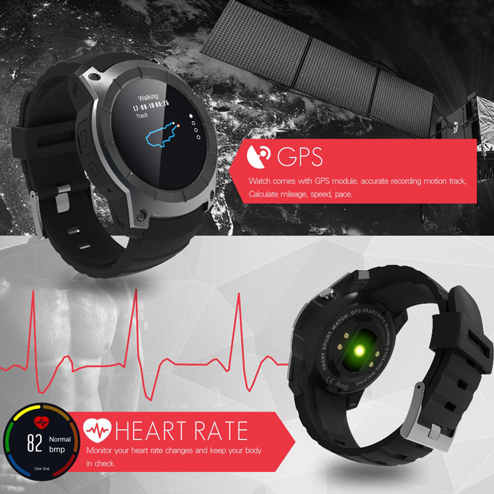 GPS SIM card GSM Sports Watch S958 MTK2503 Heart rate monitor Smartwatch multi sport model smart watch for Android IOS-in Smart Watches from Consumer Electronics    2