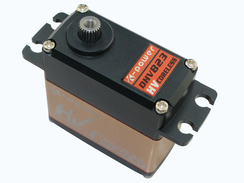 Servo de direction haute vitesse-couple élevé k-power DHV823 16.8kg-cm/0.08 s @ 7.4V (prise: JR)