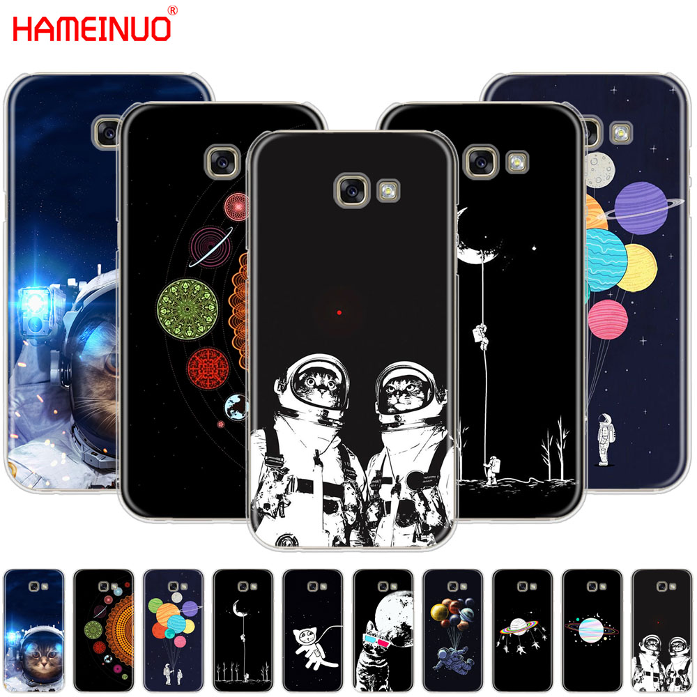 Precise Hameinuo Space Love Moon Astronaut Cat Cell Phone Case Cover For Samsung Galaxy A3 A310 A5 A510 A7 A8 A9 2016 2017 2018 Curing Cough And Facilitating Expectoration And Relieving Hoarseness Phone Bags & Cases