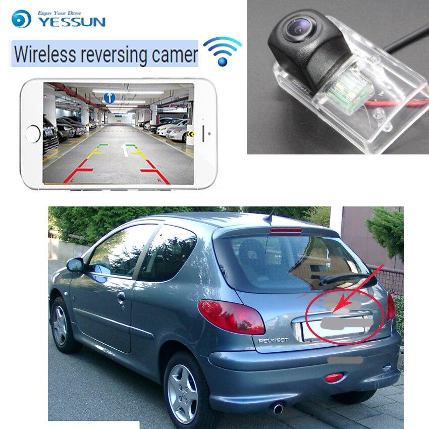 YESSUN caméra de recul sans fil pour Peugeot 206 207 306 307 pour berline 308 406 407 5008 partenaire Tepee CCD Vision nocturne Parking