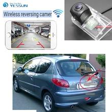 цена на YESSUN  wireless Rear View Camera For Peugeot 206 207 306 307 for Sedan 308 406 407 5008 Partner Tepee CCD Night Vision Parking