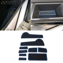 OOTDTY 	9 Pcs Interior Non-slip Gate Door Slot Pads Mat For Chevrolet Cruze 2009-2013