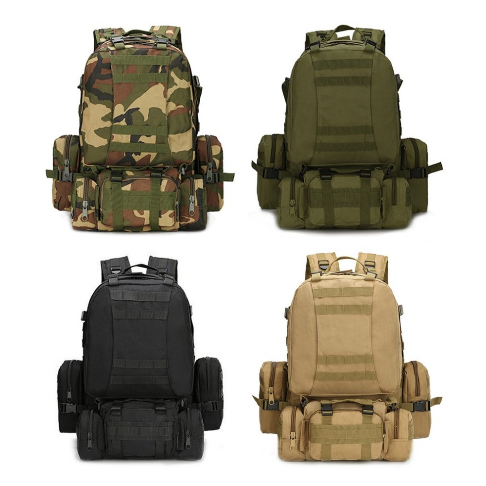New Outdoor Camping Backpack Large Capacity Sports Hiking Military Tactical Mountaineering Bag Waterproof Oxford Cloth Bag creeper large capacity tactical bag mountaineering bag 65l outdoor camping hiking camouflage backpack cover military backpack