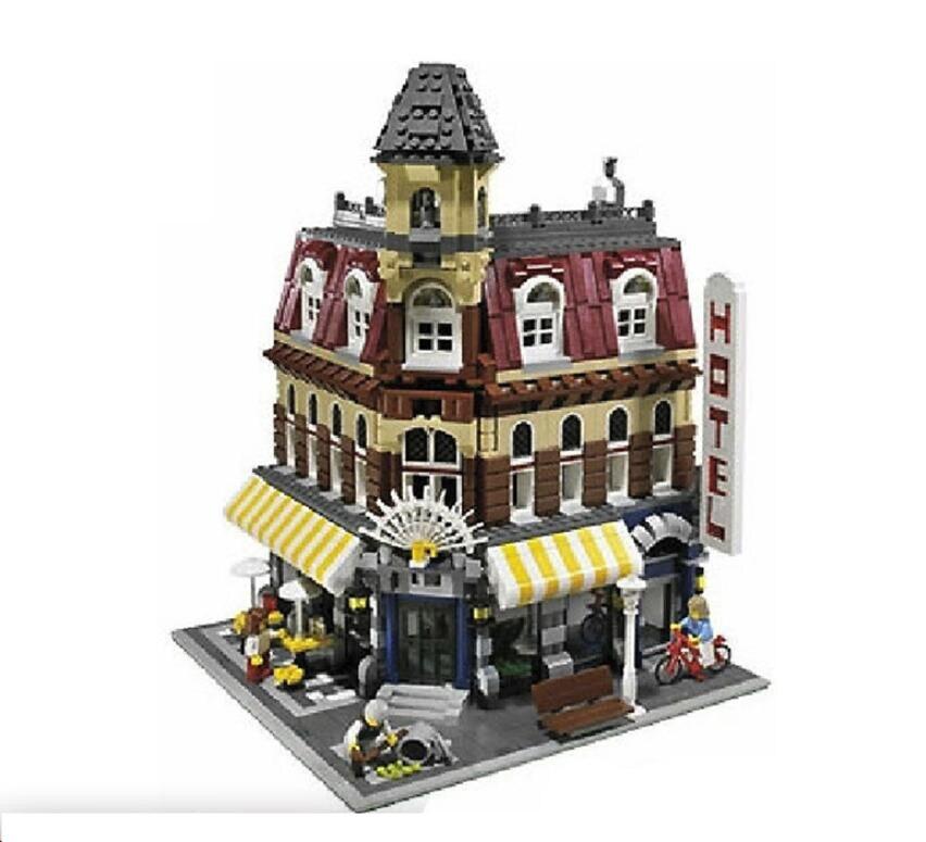 15005 15002 42133Pcs Café Da Esquina Modelo Kits de Construção Blocos Presente Toy Kid brinquedos Compatível Com 10182 Educacional