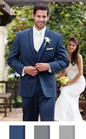 2017 Latest Coat Pant Designs Navy Blue Trimming Wedding Suit for Men Formal Groom Custom Made 3 Pieces Tuxedo Vestidos S