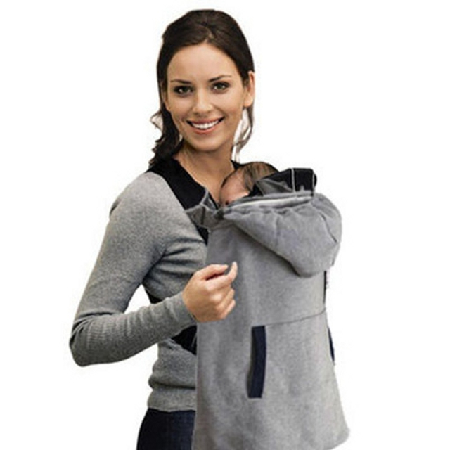 baby sling winter cloak baby carrier cover infant sling accessories for winter season with gray color - Carrier Cover
